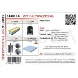 Kit Tagliando Filtri per 500 II Panda II 169 Panda Classic 1.2 GPL - Ydea K148FT-G