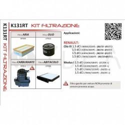 Kit Tagliando Filtri Filtrazione per Clio III 1.5 dCi 65 68 86 106 HP